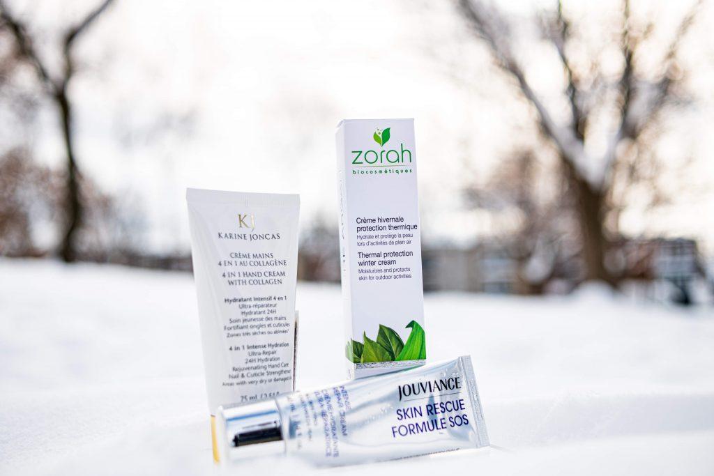 3 crèmes qui se trouvent à votre Jean Coutu sur la rue Fleury Ouest pour prendre soin de votre peau en hiver.