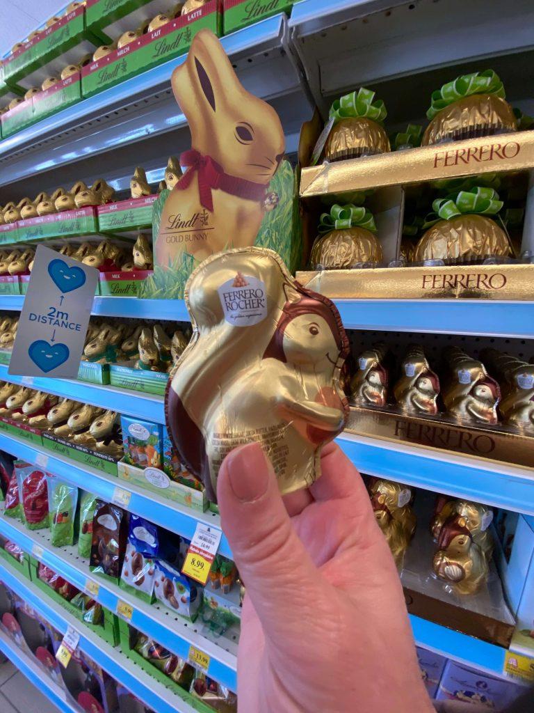 Écureuil en chocolat